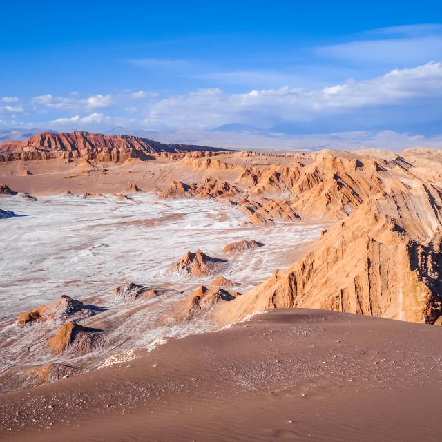 """""""Valle de la Luna in San Pedro de Atacama, Chile"""" stock image"""