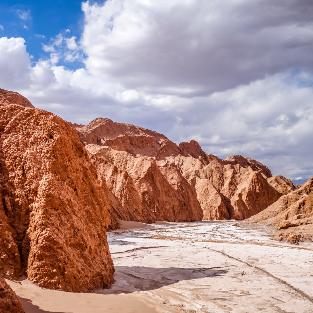 """Valle de la muerte in San Pedro de Atacama, Chile"" stock image"