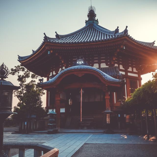 """""""kofuku-ji buddhist temple, Nara, Japan"""" stock image"""