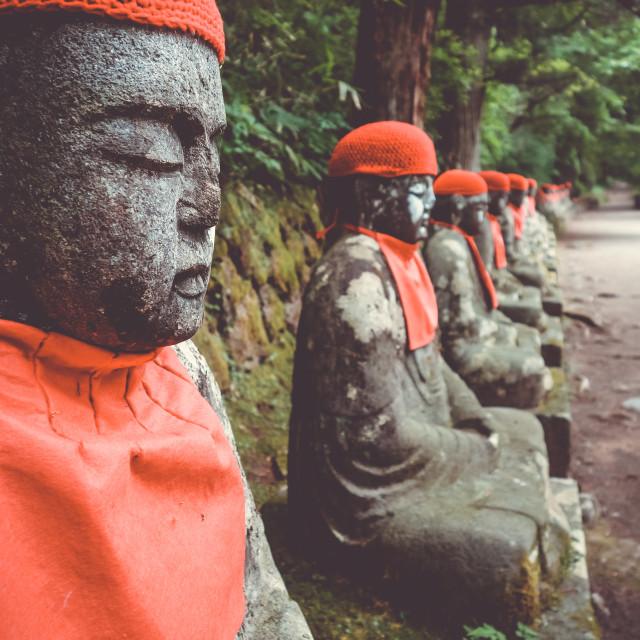 """Narabi Jizo statues, Nikko, Japan"" stock image"