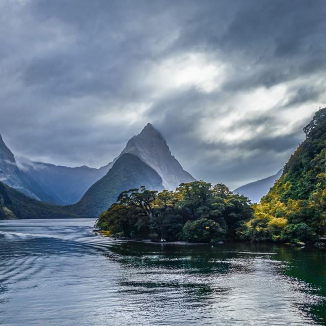 """Milford Sound, fiordland national park, New Zealand"" stock image"