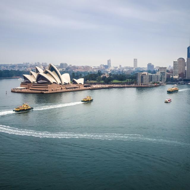"""Sydney city center and Opera House, Australia"" stock image"