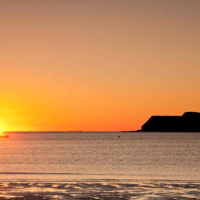 """""""Sunset at Calgary Beach"""" stock image"""