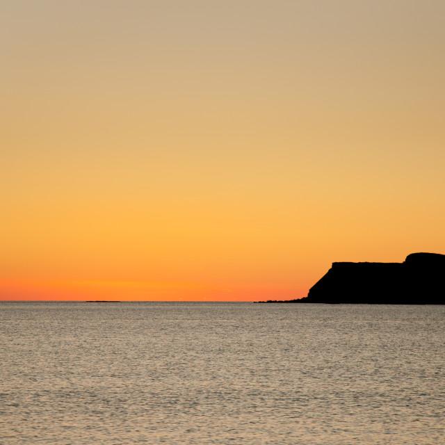 """""""Sundown at Calgary Beach"""" stock image"""