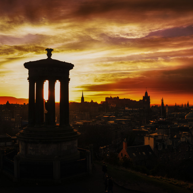 """Calton Hill Sunset"" stock image"
