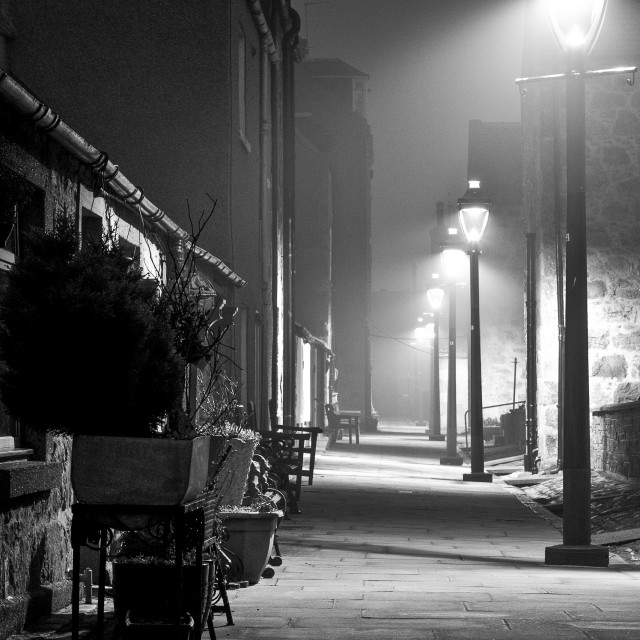 """""""Fittie on a foggy night"""" stock image"""