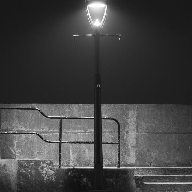 """""""Street Light in the fog"""" stock image"""