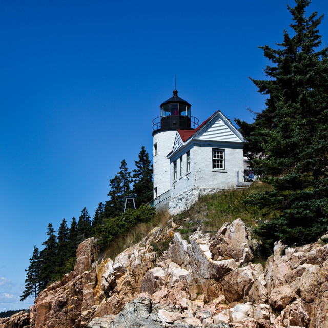 """Bass Harbor Lighthouse"" stock image"