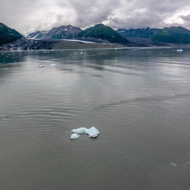 """Mountains against Disenchantment Bay, Alaska"" stock image"