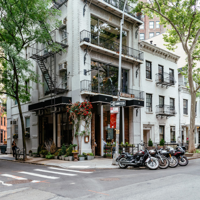 """Picturesque street view in Greenwich Village, New York"" stock image"