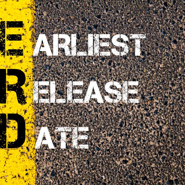 """Business Acronym ERD as Earliest Release Date"" stock image"
