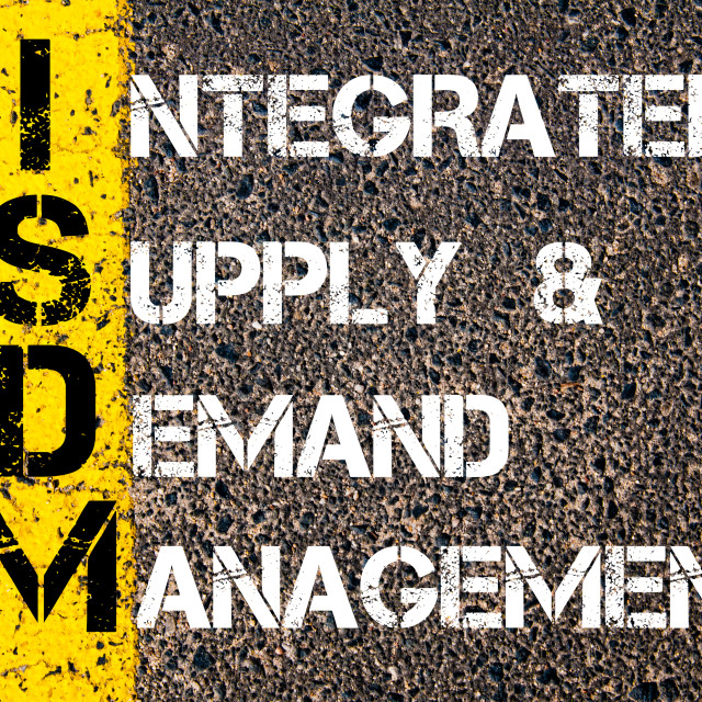 """""""Business Acronym ISDM as Integrated Supply and Demand Management"""" stock image"""