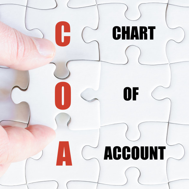 """Last puzzle piece with Business Acronym COA"" stock image"