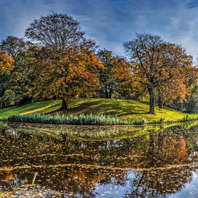 """""""Autumn on the ramparts of Alkmaar"""" stock image"""