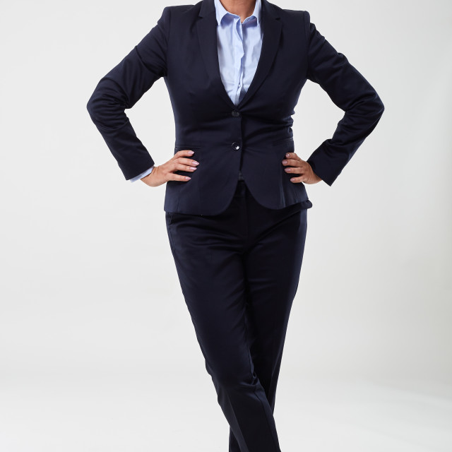 """Mature businesswoman portrait"" stock image"