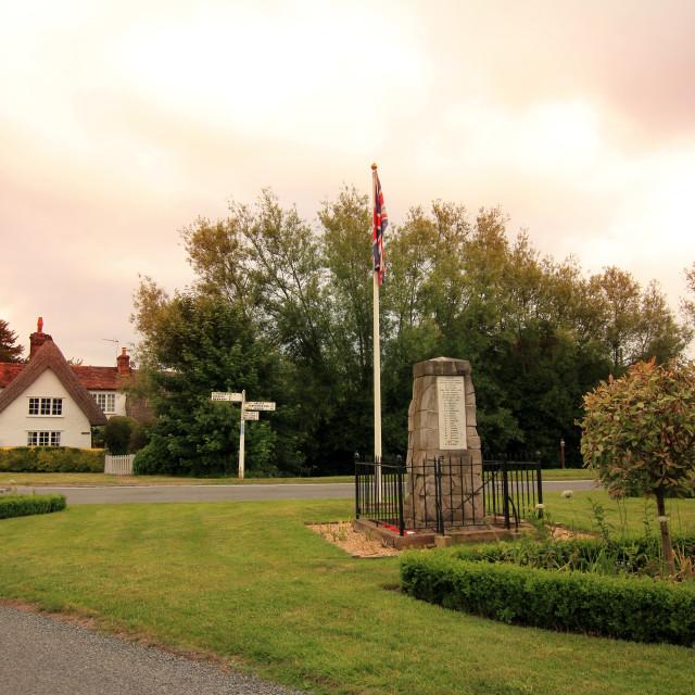 """Village Memorial"" stock image"