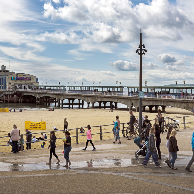 """Bournemouth Pier."" stock image"