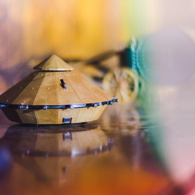 """""""Model of Da Vinci's Tank"""" stock image"""
