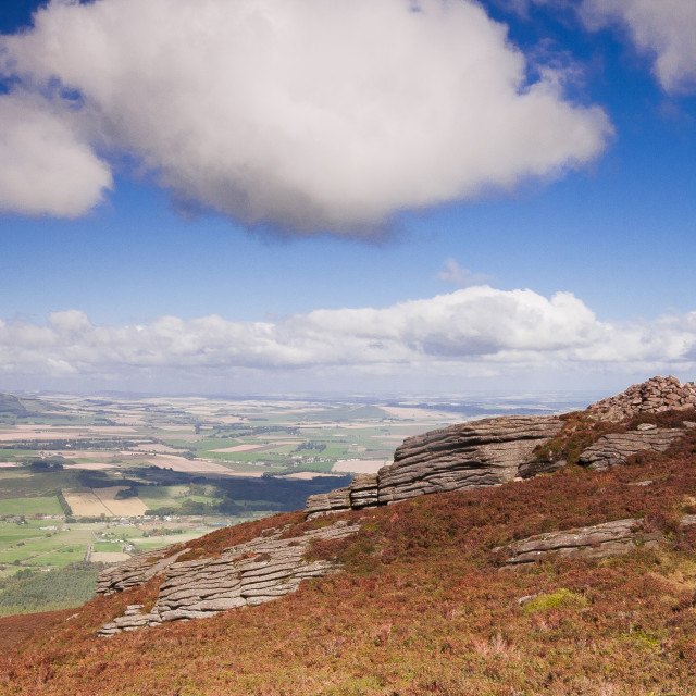 """Bennachie looking North"" stock image"