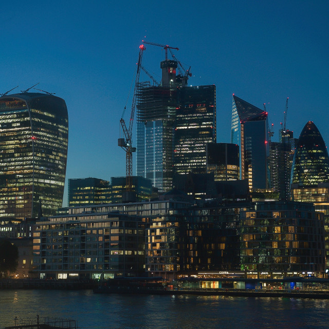 """""""The City of London at Dusk"""" stock image"""