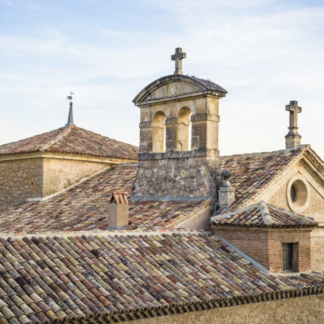 """Rooftop detail in the old town of Cuenca"" stock image"