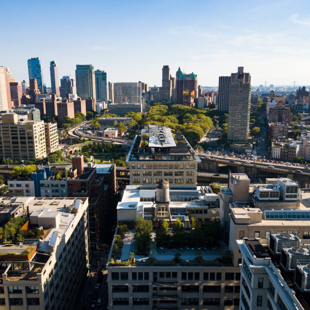 """Aerial view of Brooklyn in New York"" stock image"