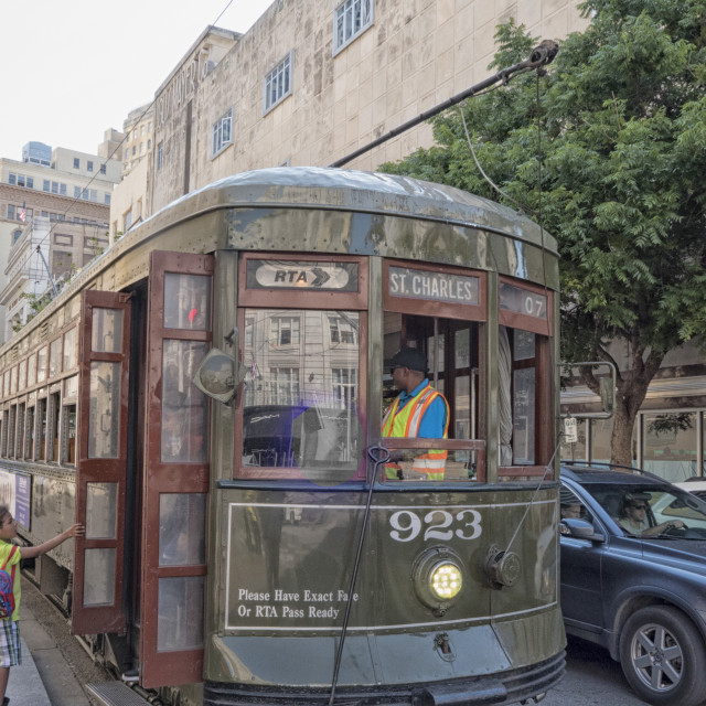 """""""Streetcar in New Orleans, USA"""" stock image"""