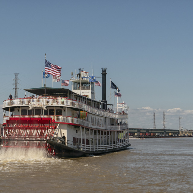 """Natchez steamboat in New Orleans"" stock image"