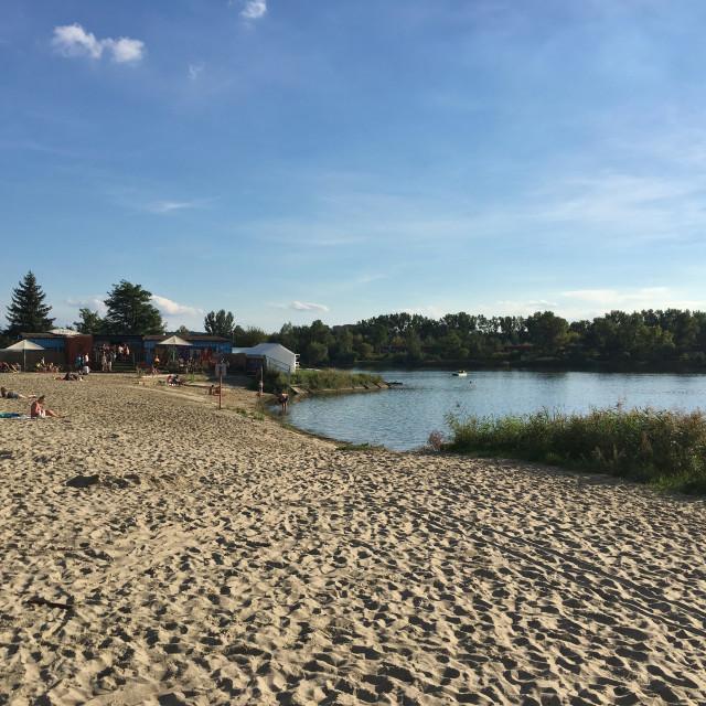 """Krakow: Bagry Beach"" stock image"