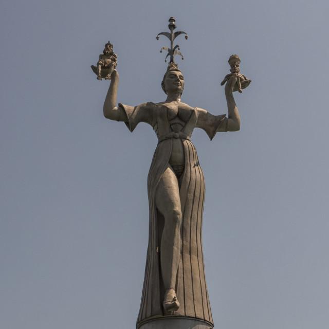 """Imperia statue in Constance"" stock image"