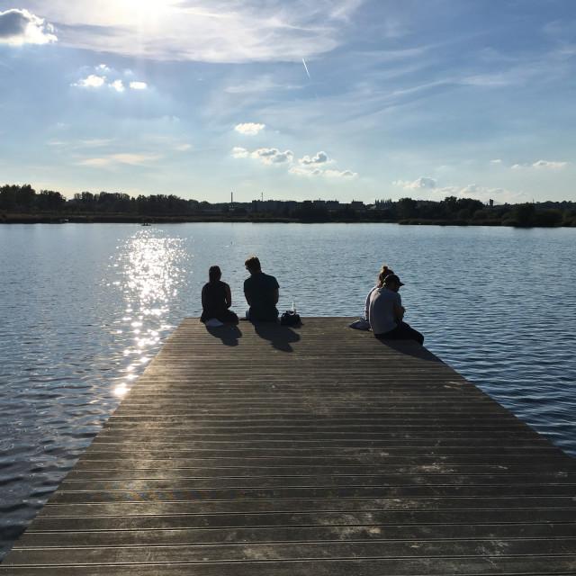 """""""Krakow: Bagry Reservoir"""" stock image"""