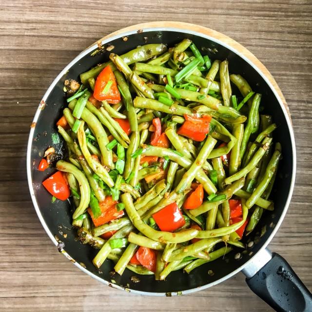 """Stir beans fry"" stock image"
