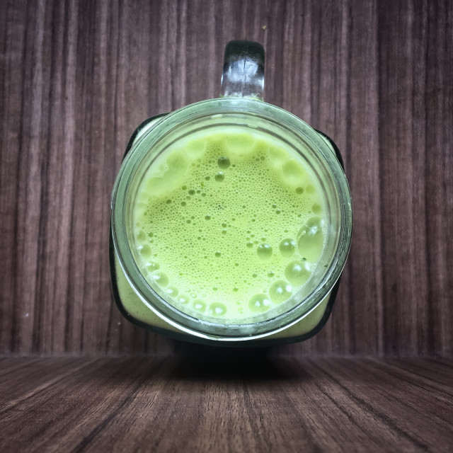 """Green smoothie"" stock image"