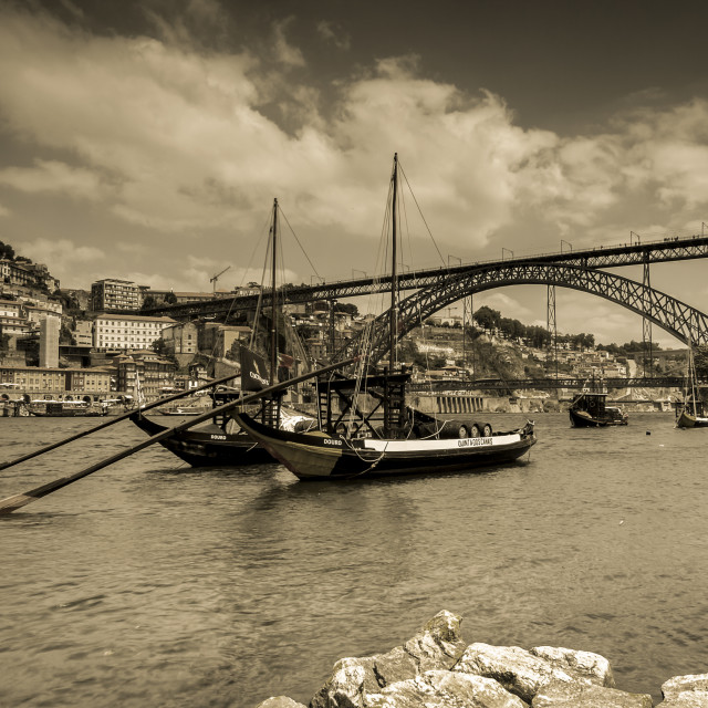 """Porto by the river"" stock image"