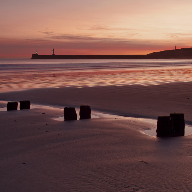 """Aberdeen Beach sunrise (panorama)"" stock image"