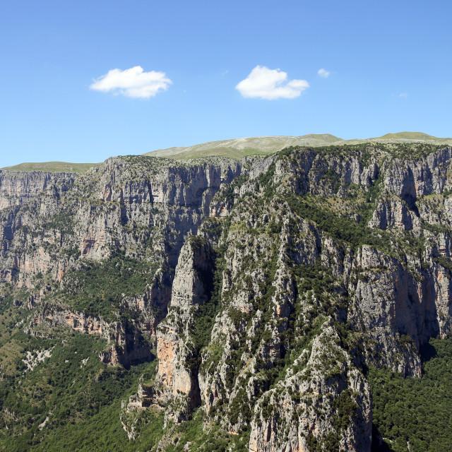 """Vikos gorge landscape Zagoria Greece"" stock image"