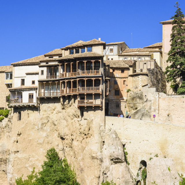 """Hanging houses of Cuenca"" stock image"