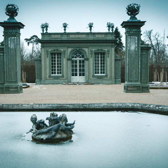 """Versailles garden in Winter"" stock image"