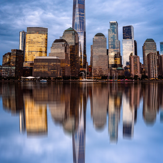"""Cityscape of Financial District of New York"" stock image"