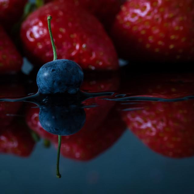 """Soft fruits, blueberry and strawberry isolated"" stock image"