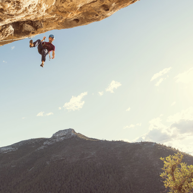 """Climbing in Spain"" stock image"