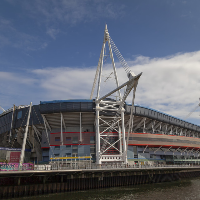 """Rugby Union Stadium, Wales"" stock image"