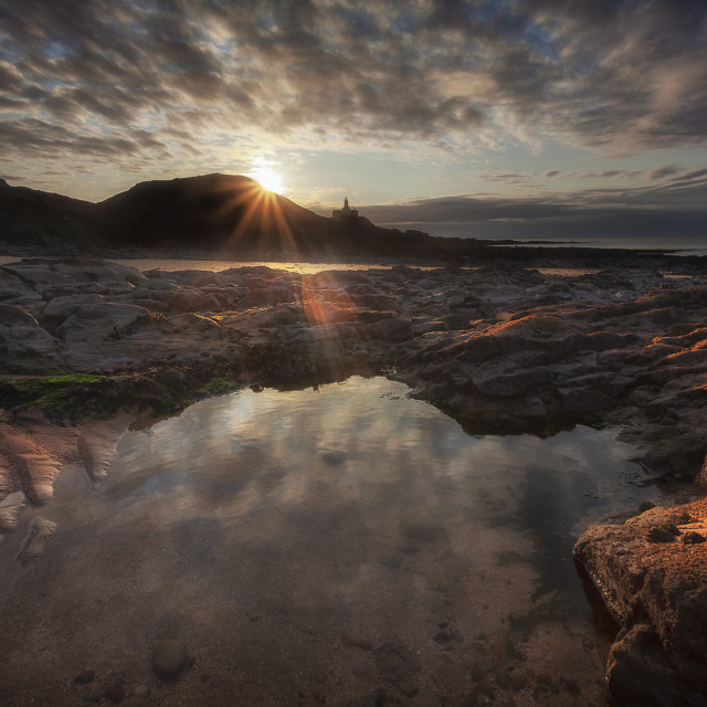 """Bracelet Bay rock pool"" stock image"