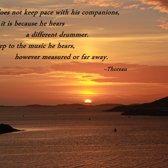 """""""Sunset Photo With Quote"""" stock image"""