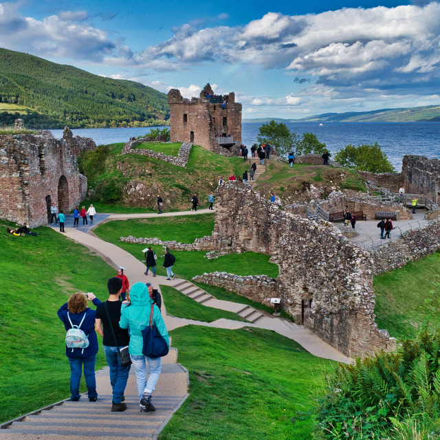 """The Ruins of Urquhart Castle"" stock image"