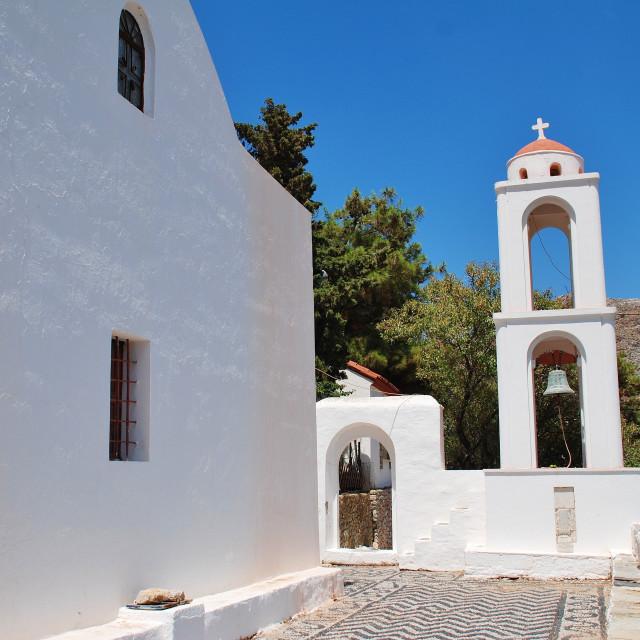 """Archangel Michael church, Tilos"" stock image"