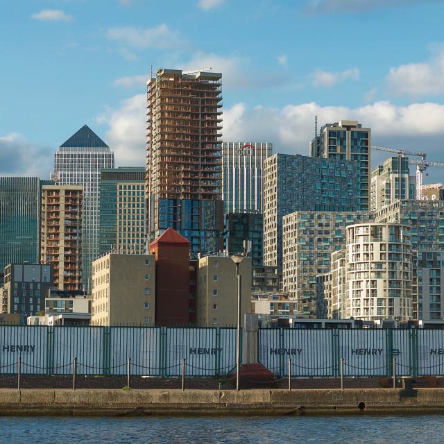 """Canary Wharf Panorama"" stock image"