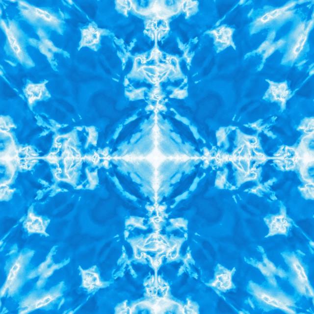 """Blue kaleidoscope pattern background"" stock image"