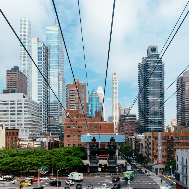 """The Roosevelt Island Tramway in New York"" stock image"