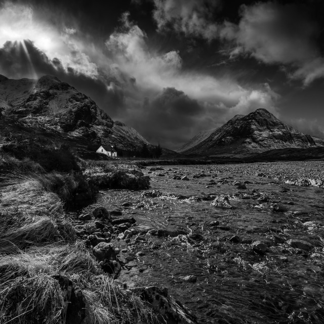 """Power of Rannoch Moor"" stock image"